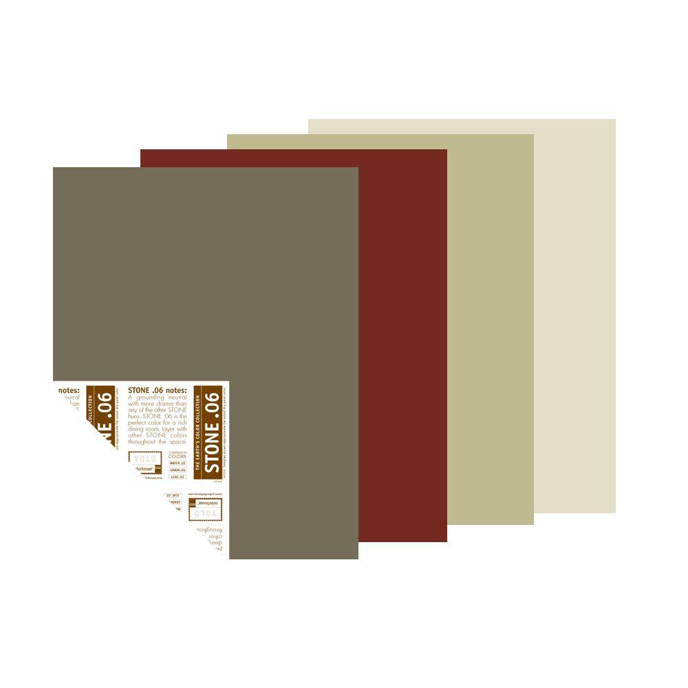 YOLO Colorhouse Farmer's Market Palette 12 in. x 16 in. Pre-Painted Big Chip Sample (4-Pack)-DISCONTINUED