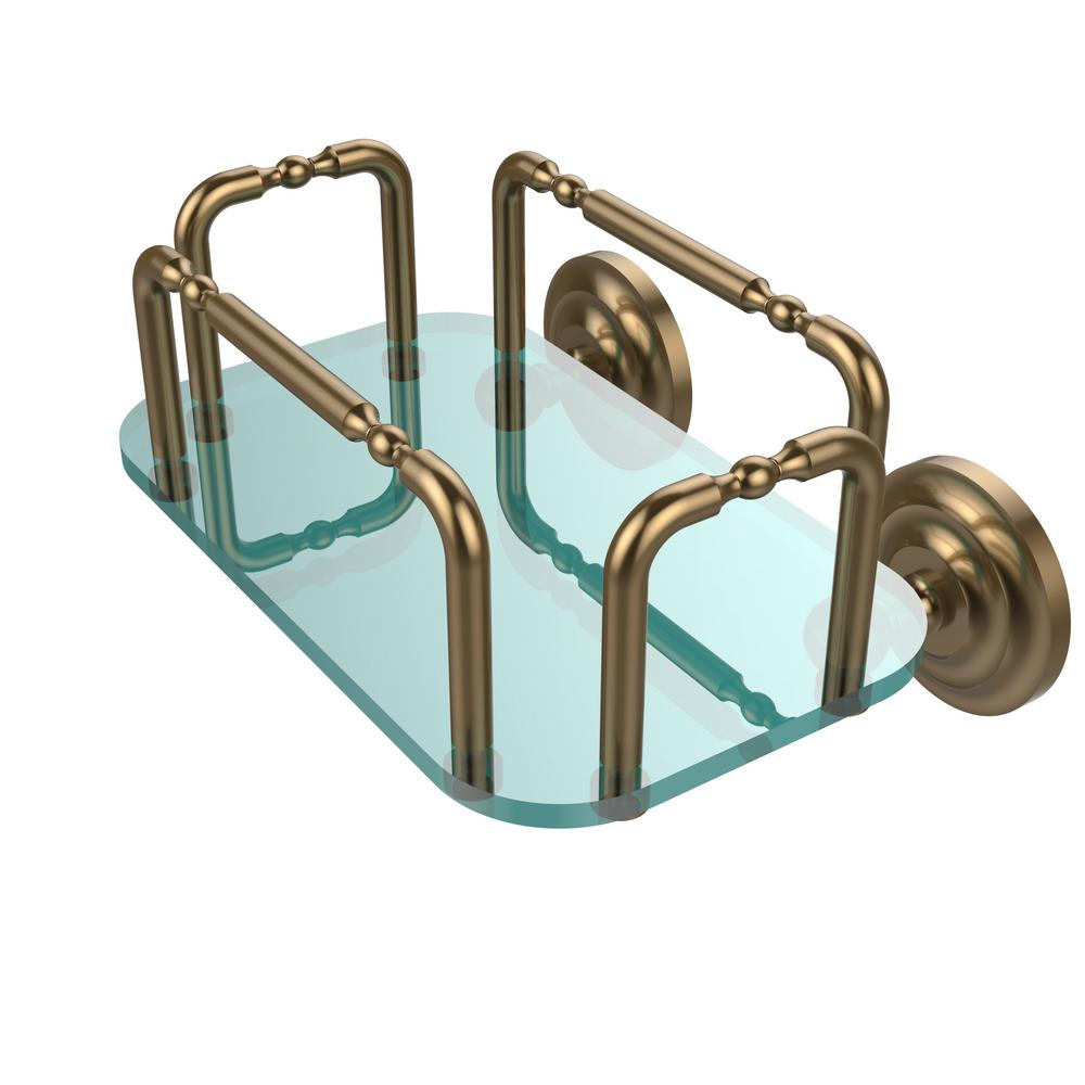 Que New Wall Mounted Guest Towel Holder in Brushed Bronze