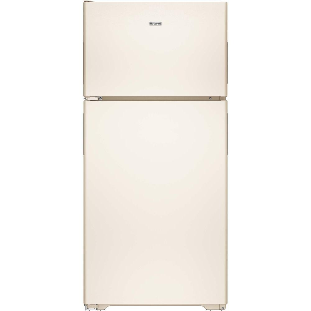 Hotpoint 14.6 cu. ft. Top Freezer Refrigerator in Bisque-HPS15BTHLCC - The