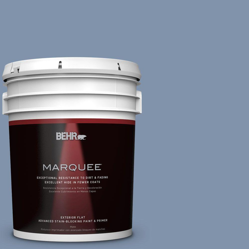 BEHR MARQUEE 5 gal. #T16-13 Stratus Flat/Matte Exterior Paint-445405 - The