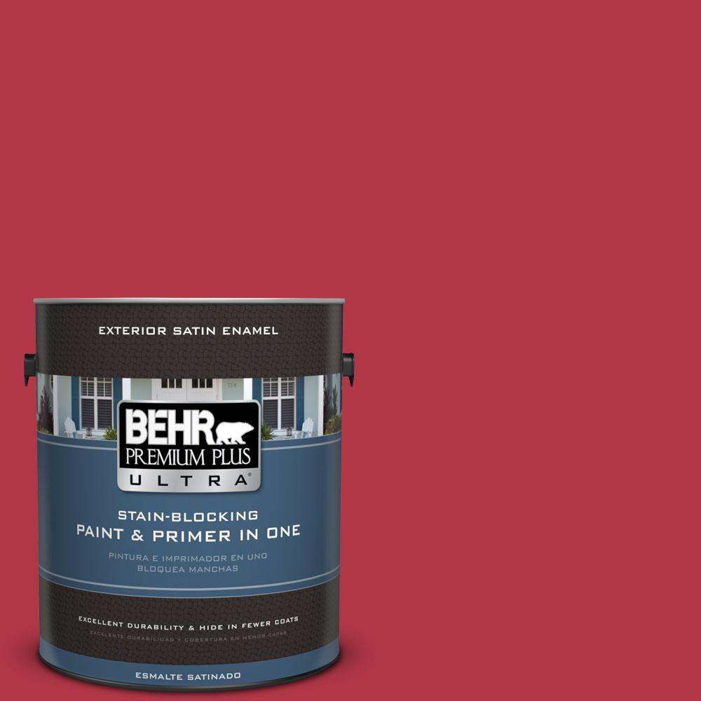 BEHR Premium Plus Ultra 1-gal. #140B-7 Frosted Pomegranate Satin Enamel Exterior