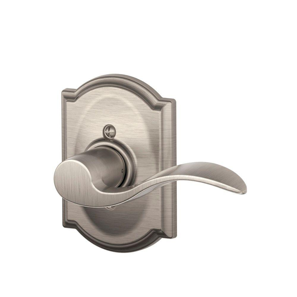Camelot Collection Accent Satin Nickel Right-Hand Dummy Lever