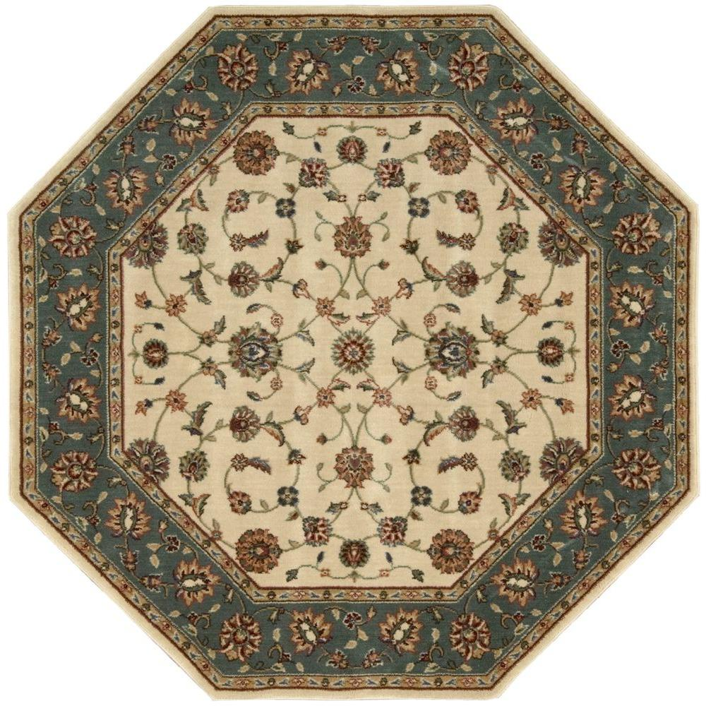 Firouz Ivory 5 ft. 3 in. Octagon Area Rug