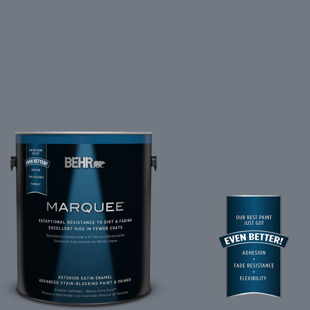 BEHR MARQUEE 1-gal. #PPF-38 Deep Shale Satin Enamel Exterior Paint