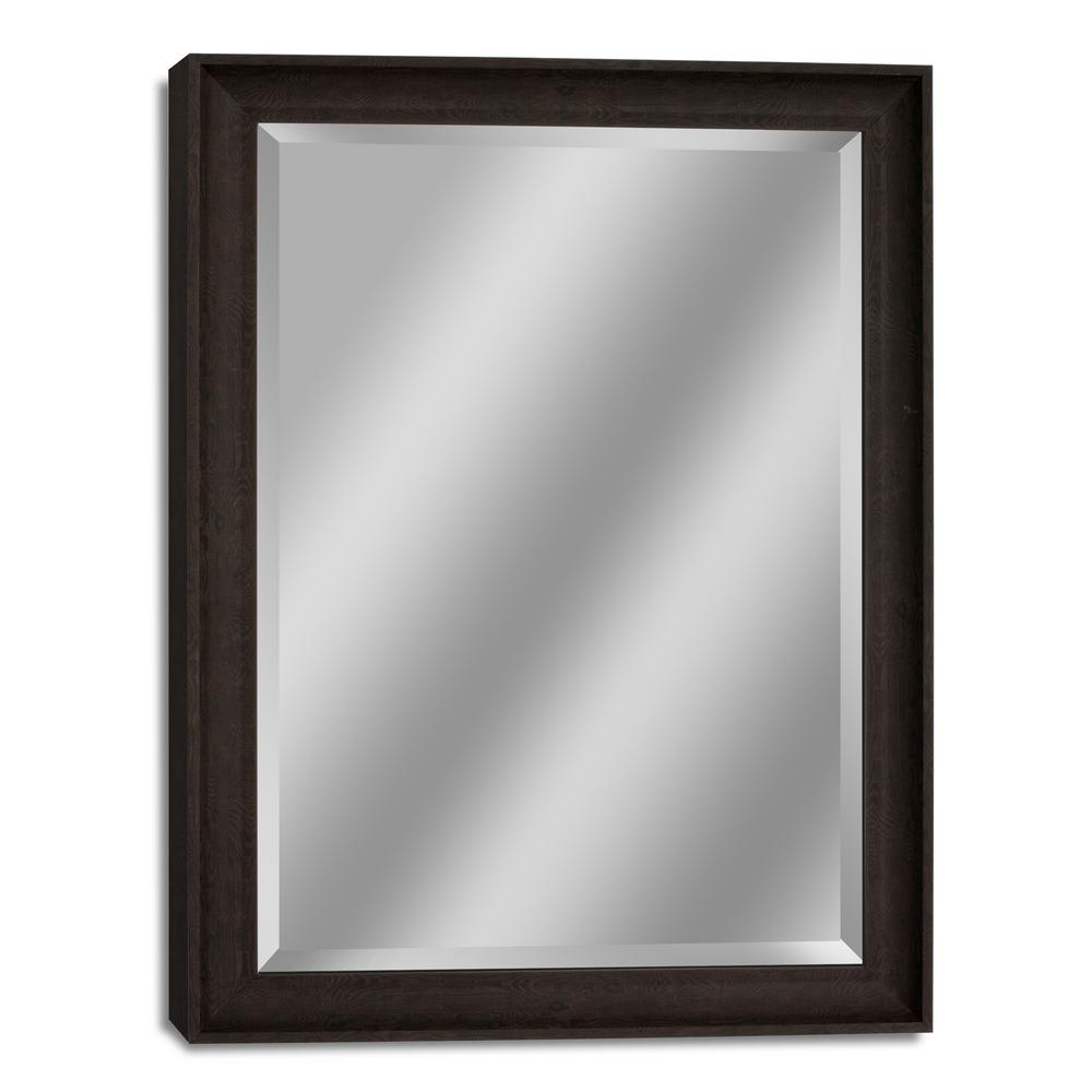 28.5 in. W x 40.5 in. H Transitional Driftwood Wall Mirror