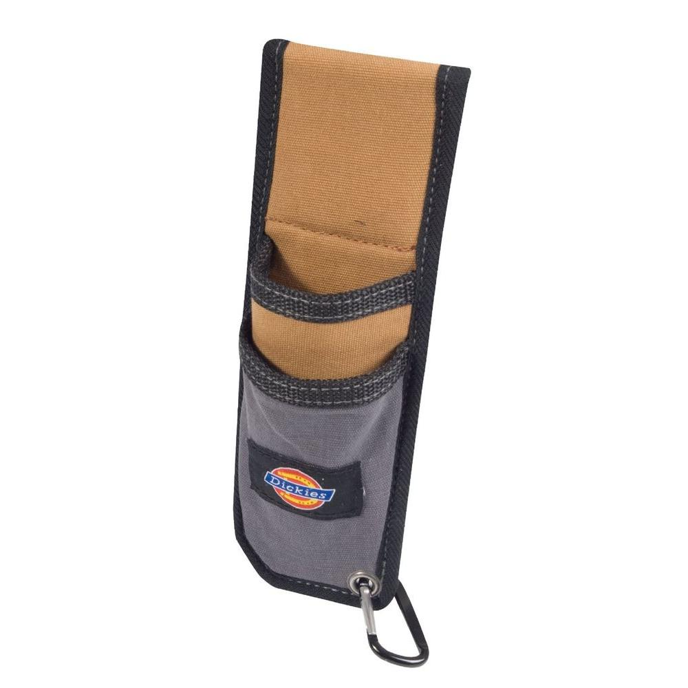 2-Pocket Utility Knife Sheath Tool Belt Pouch with Cut-Preventive Lining, Tan