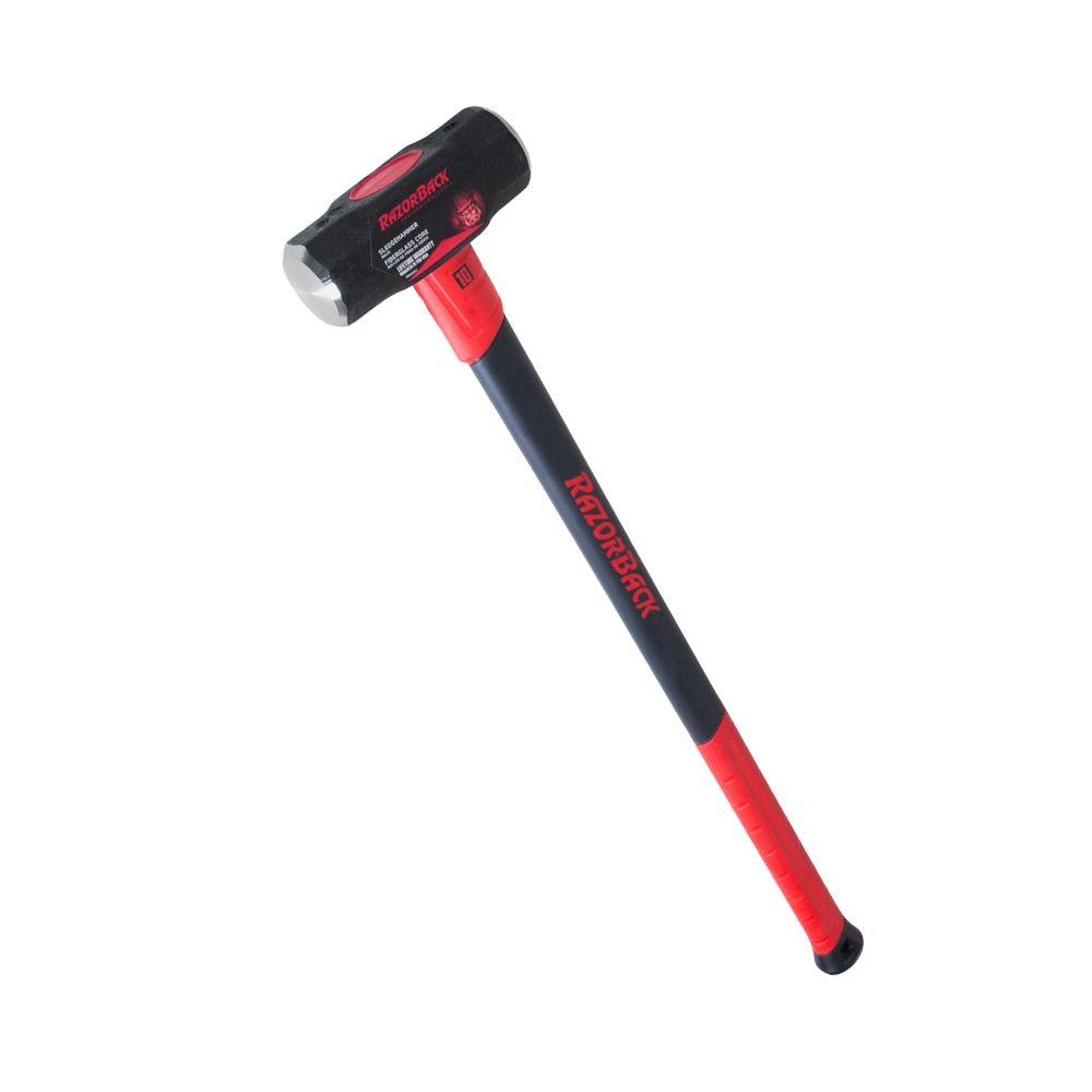 10 lb. Sledge Hammer with 34 in. Fiberglass Handle