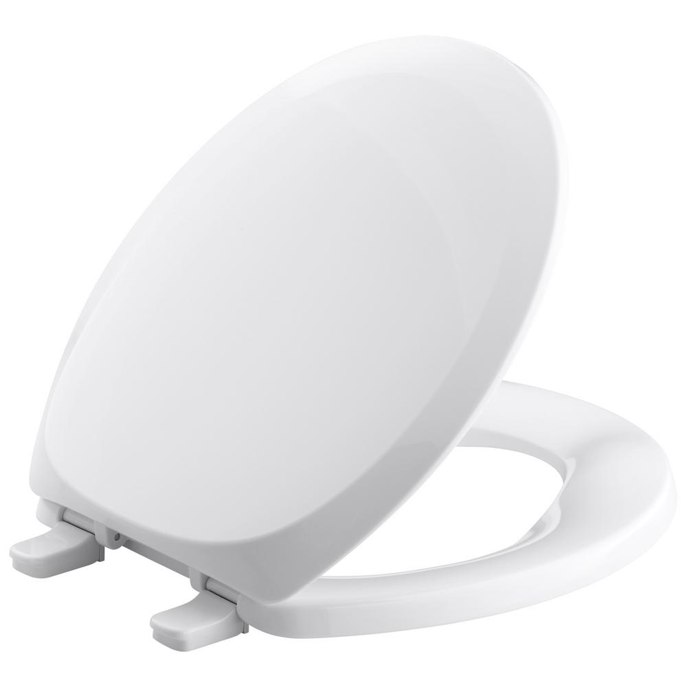 French Curve Round Closed Front Toilet Seat in White
