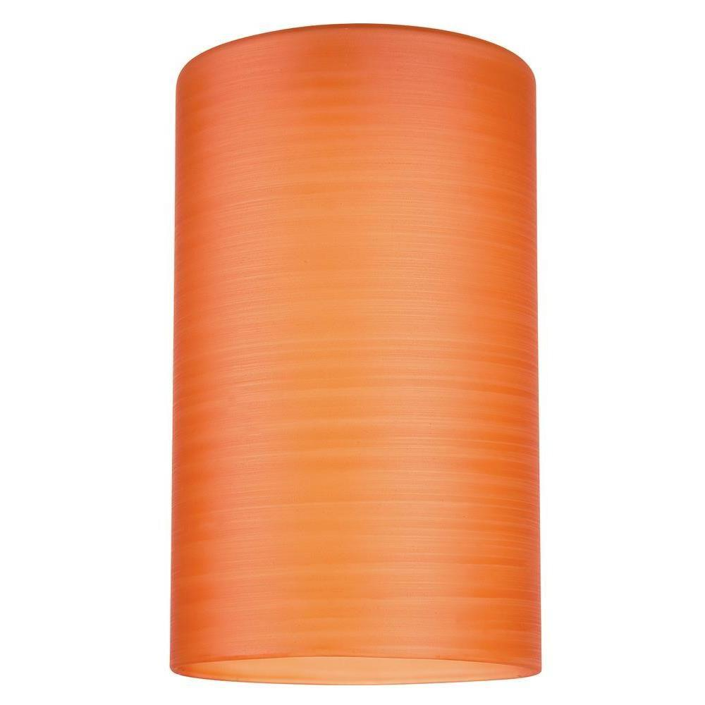 6-1/2 in. Hand Blown Orange Glass Cylinder Shade with 2-1/4 in.