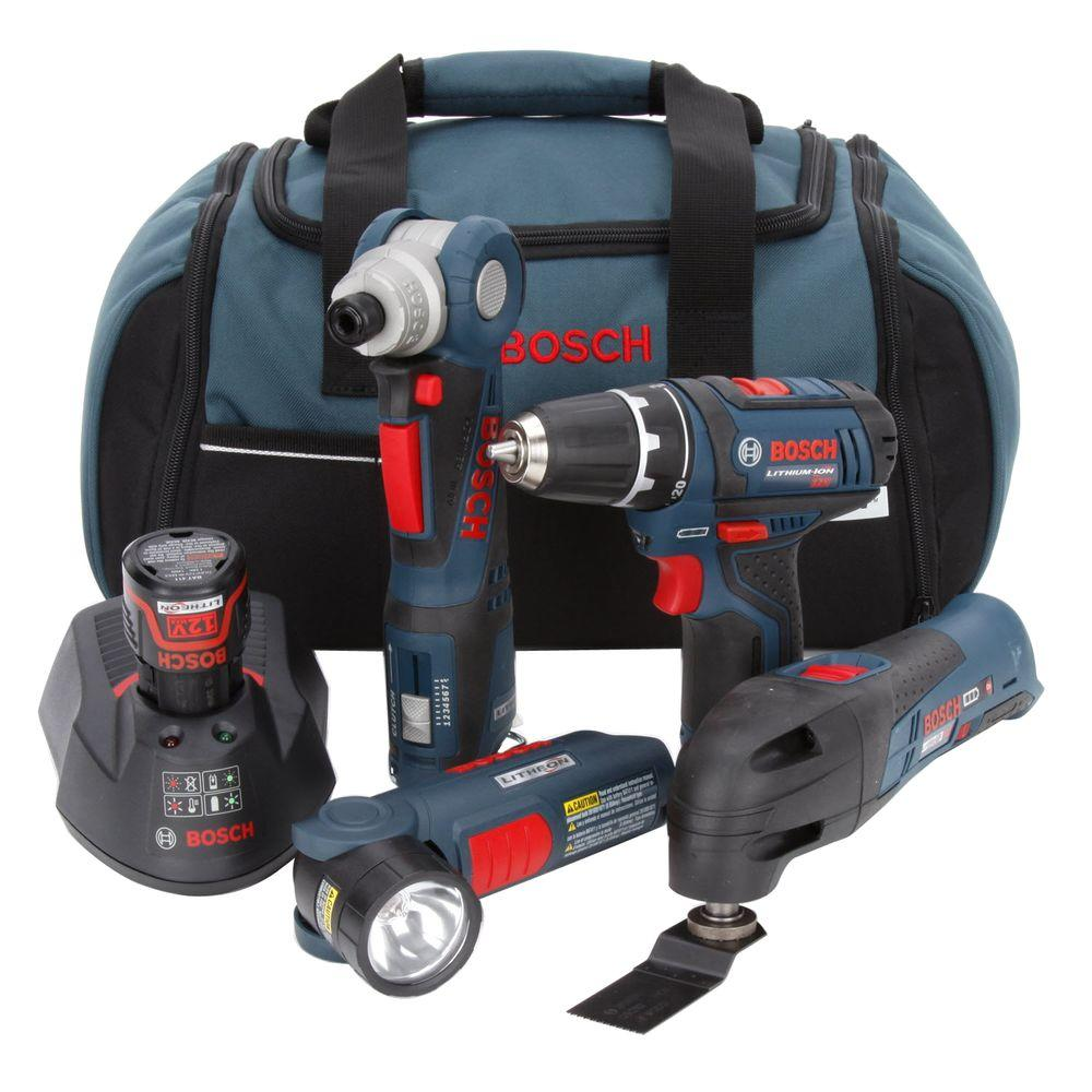 Bosch 12-Volt Lithium-Ion Combo Kit (4-Tool)