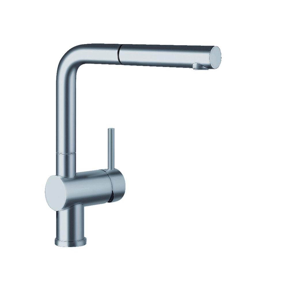 Blanco Linus Single-Handle Standard Kitchen Faucet in Satin Nickel