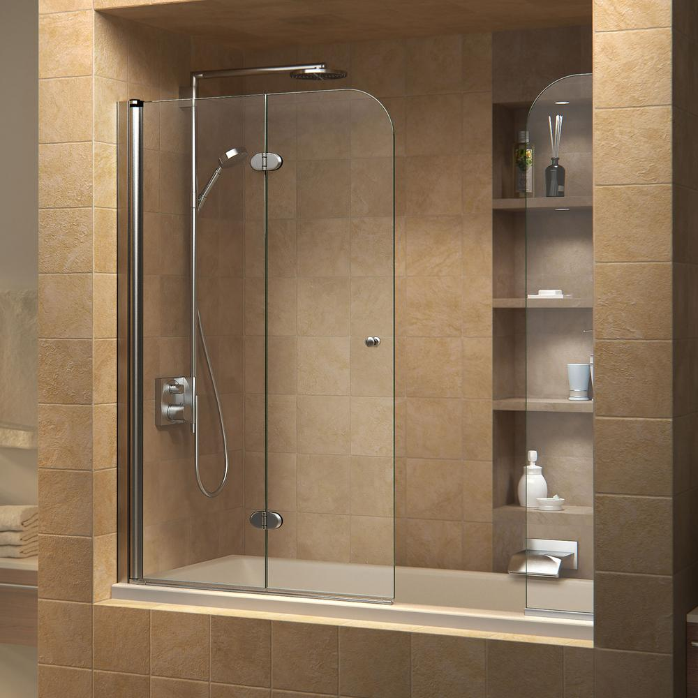 DreamLine AquaFold 56 to 60 in. x 58 in. Semi-Framed Hinged