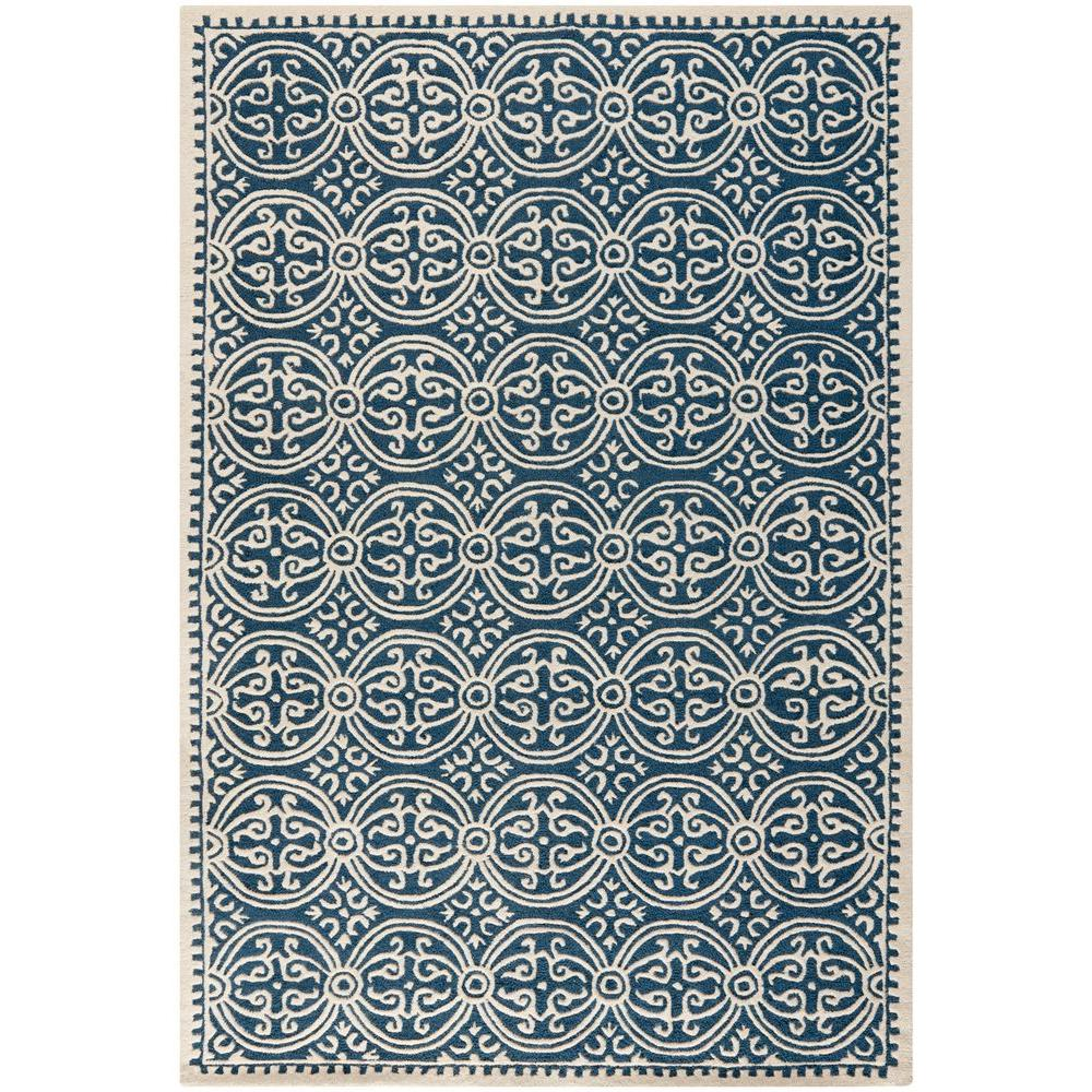 Cambridge Navy Blue/Ivory 6 ft. x 9 ft. Area Rug