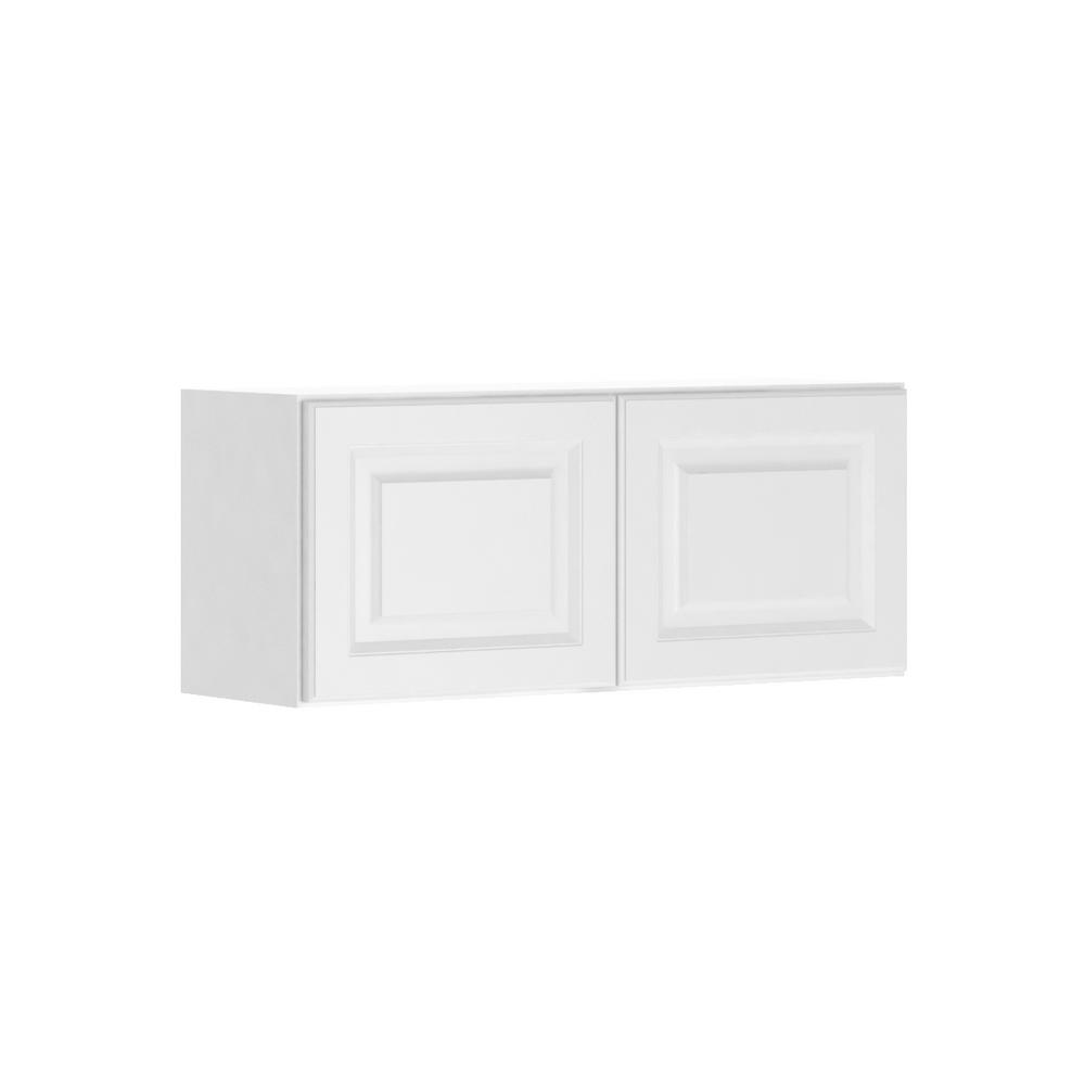 Assembled 36x15x12 in. Madison Wall Bridge Cabinet in Warm White