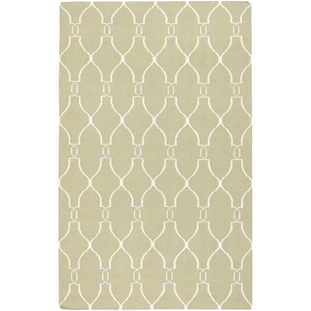 Surya Jill Rosenwald Sage 2 ft. x 3 ft. Flatweave Accent