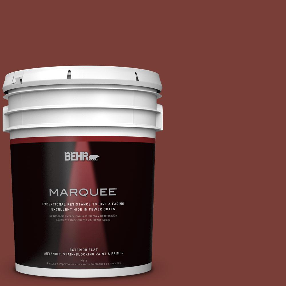 BEHR MARQUEE 5-gal. #ECC-36-3 Red Bluff Flat Exterior Paint
