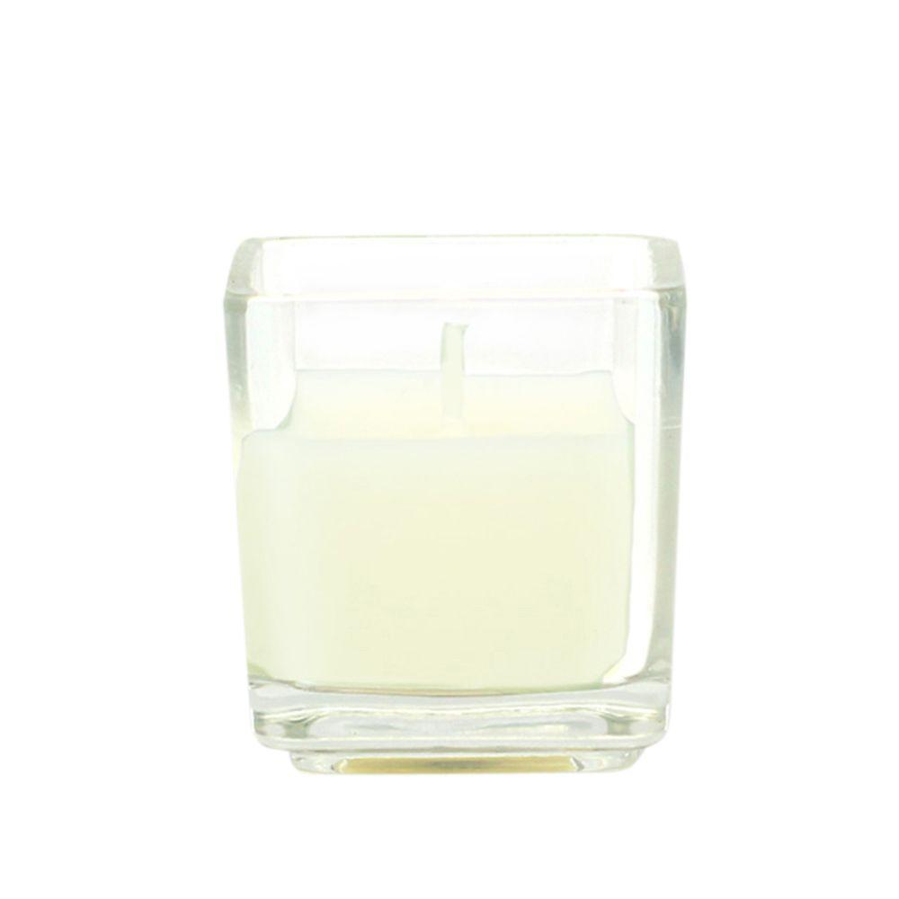 2 in. Ivory Square Glass Votive Candles (12-Box)