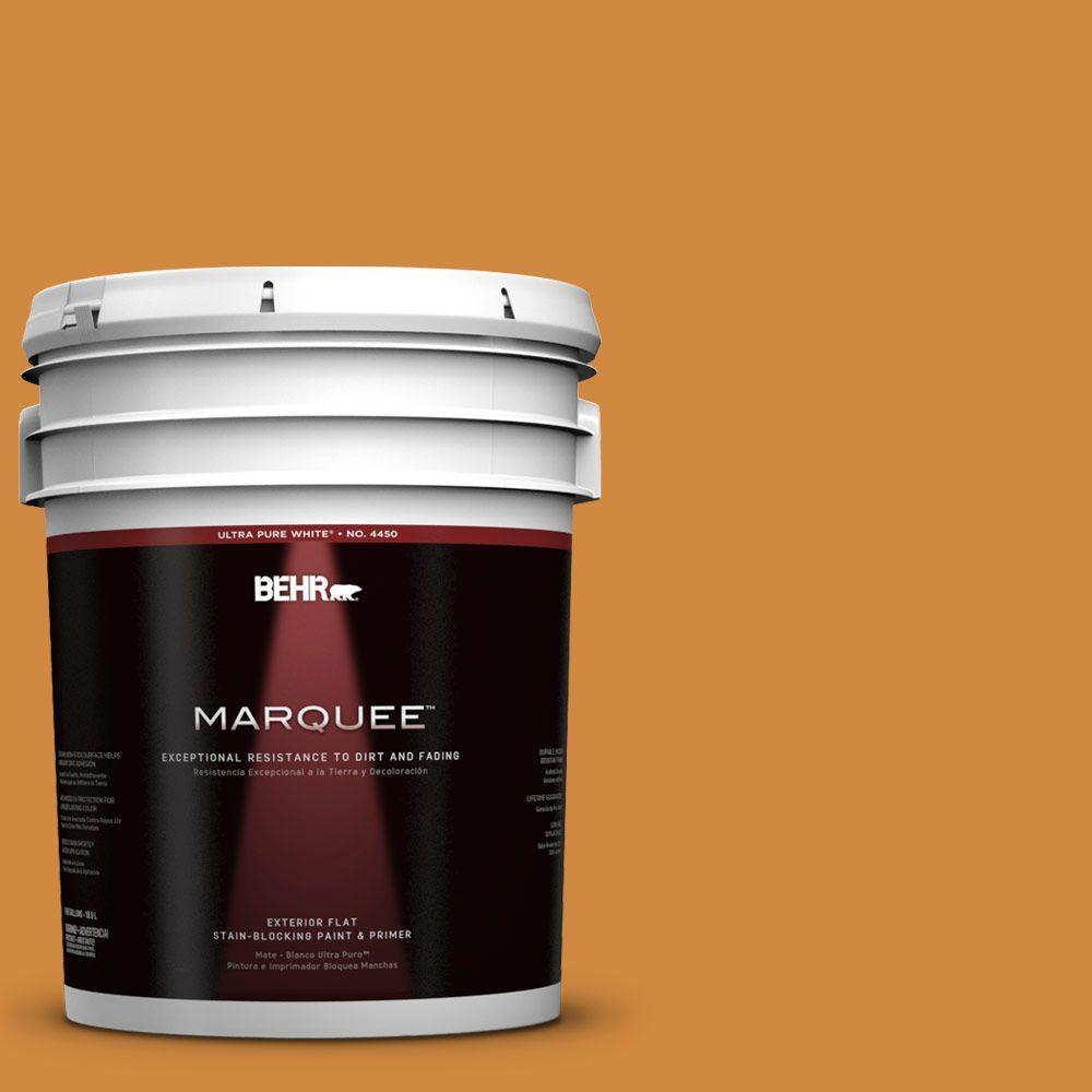BEHR MARQUEE 5-gal. #290D-6 Acorn Flat Exterior Paint
