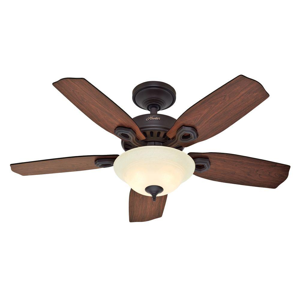 Hunter Auberville 44 in. New Bronze Ceiling Fan-DISCONTINUED