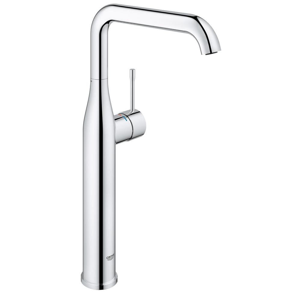 grohe essence new single hole single handle bathroom faucet in starlight chrome 2353800a the