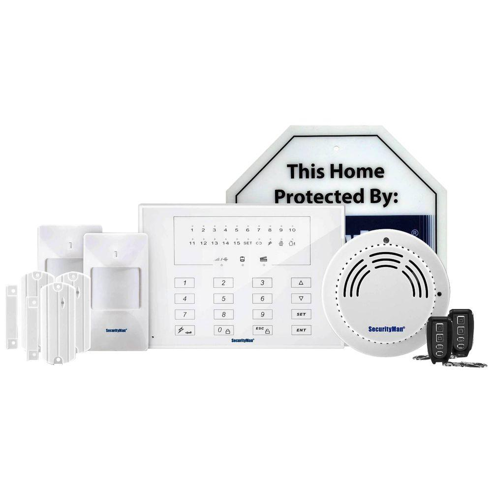 Securityman deluxe kit of d i y wireless smart home alarm for Smart home alarm system