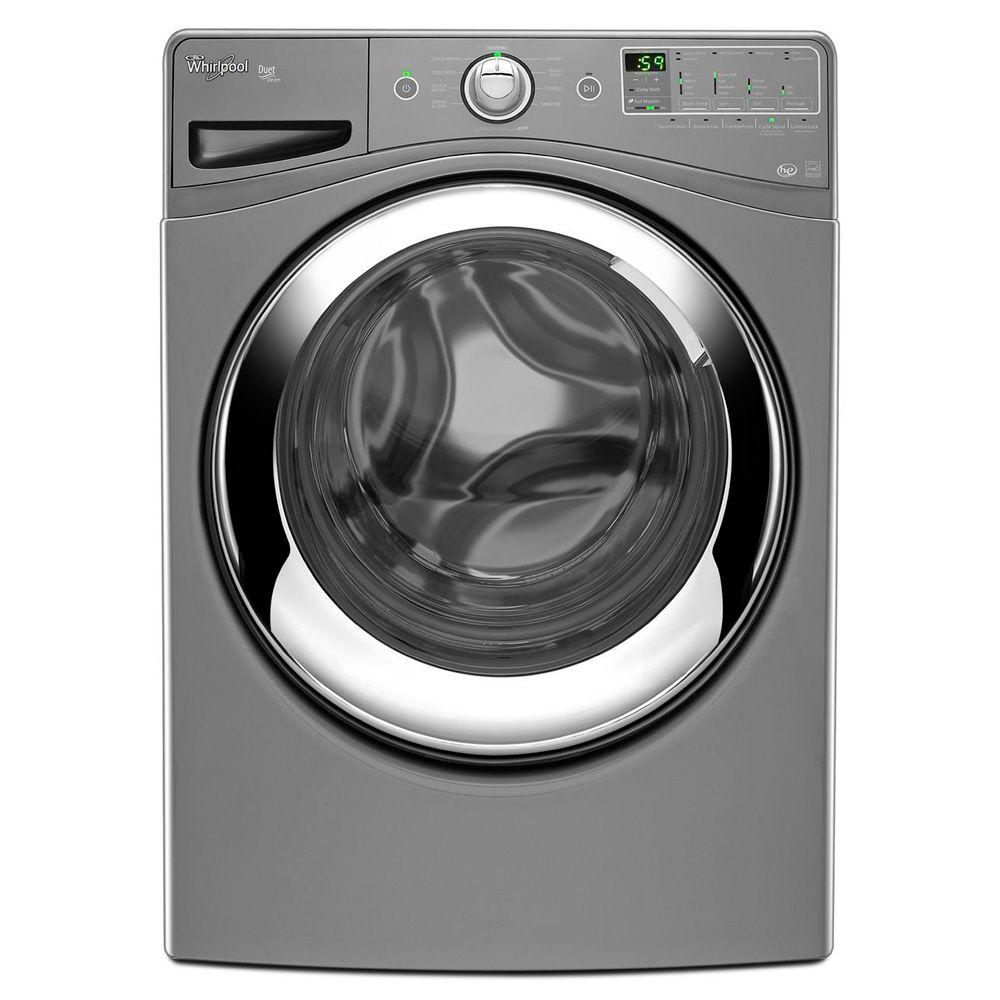 Whirlpool Duet 4.1 cu. ft. High-Efficiency Front Load Washer with Steam in Chrome Shadow, ENERGY STAR-DISCONTINUED