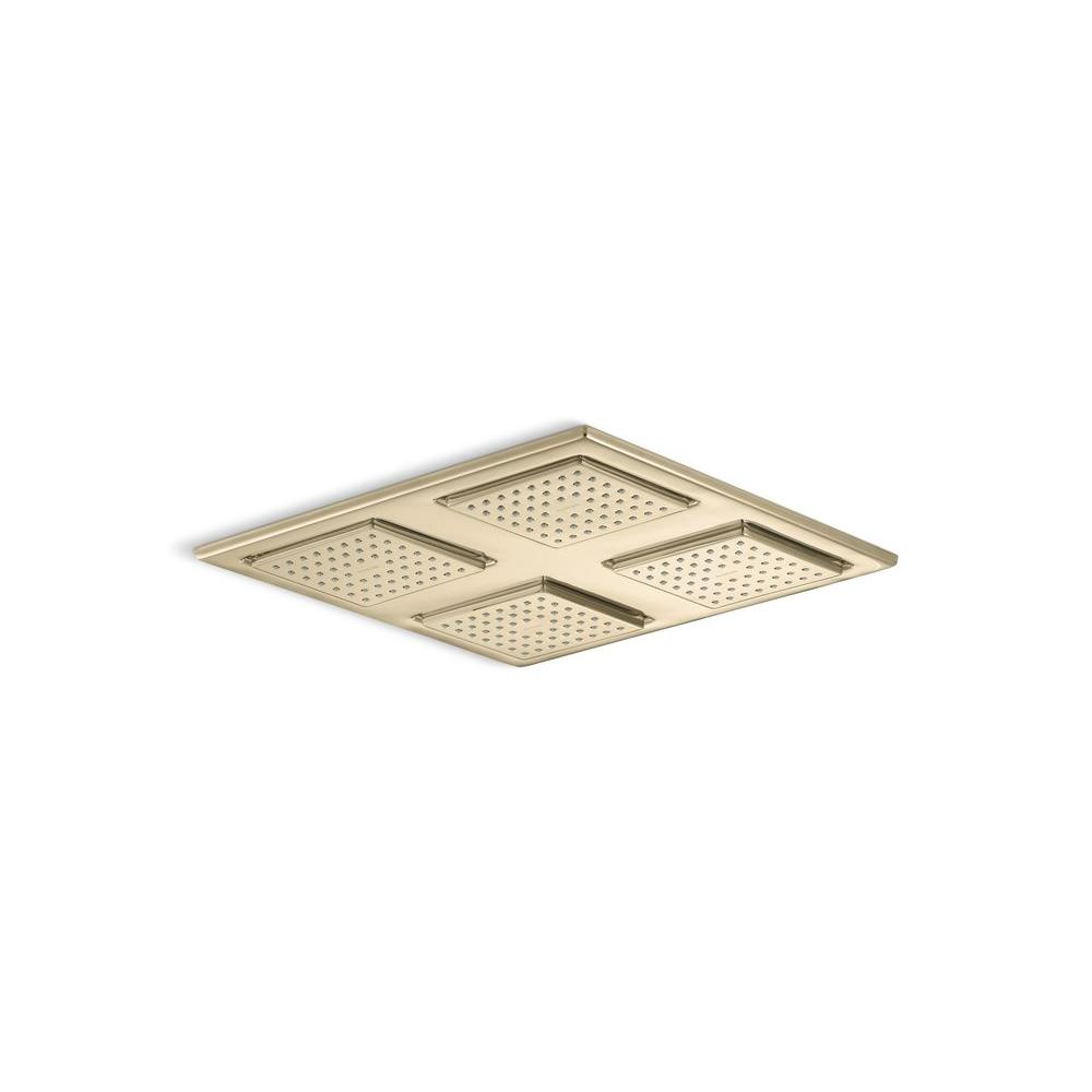 KOHLER Watertile Square Rain 54-Nozzle Overhead Showering Panel in Vibrant French Gold-DISCONTINUED