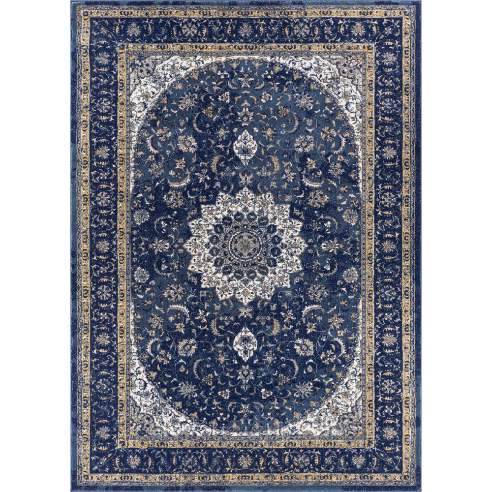 Luxbury Mahal Blue 7 ft. 10 in. x 10 ft. 6
