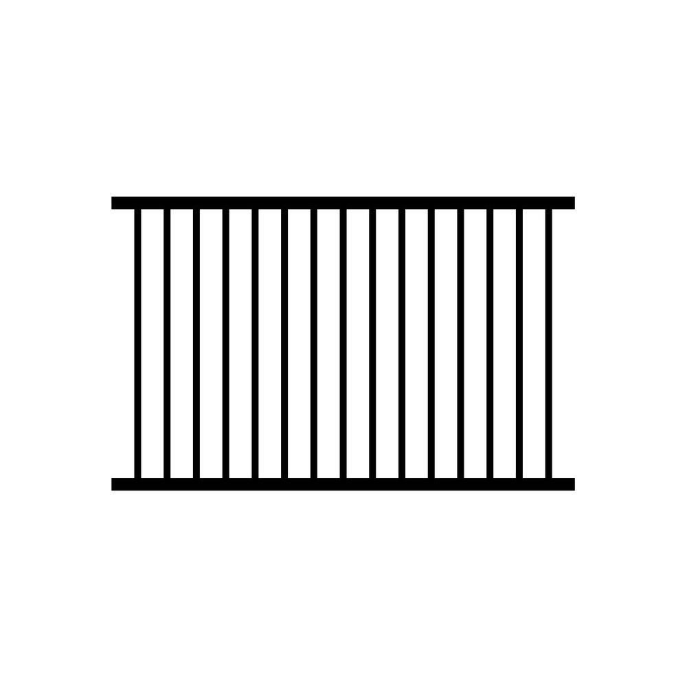 Jerith 4 ft. H x 6 ft. W Black Ovation Aluminum Fence Section