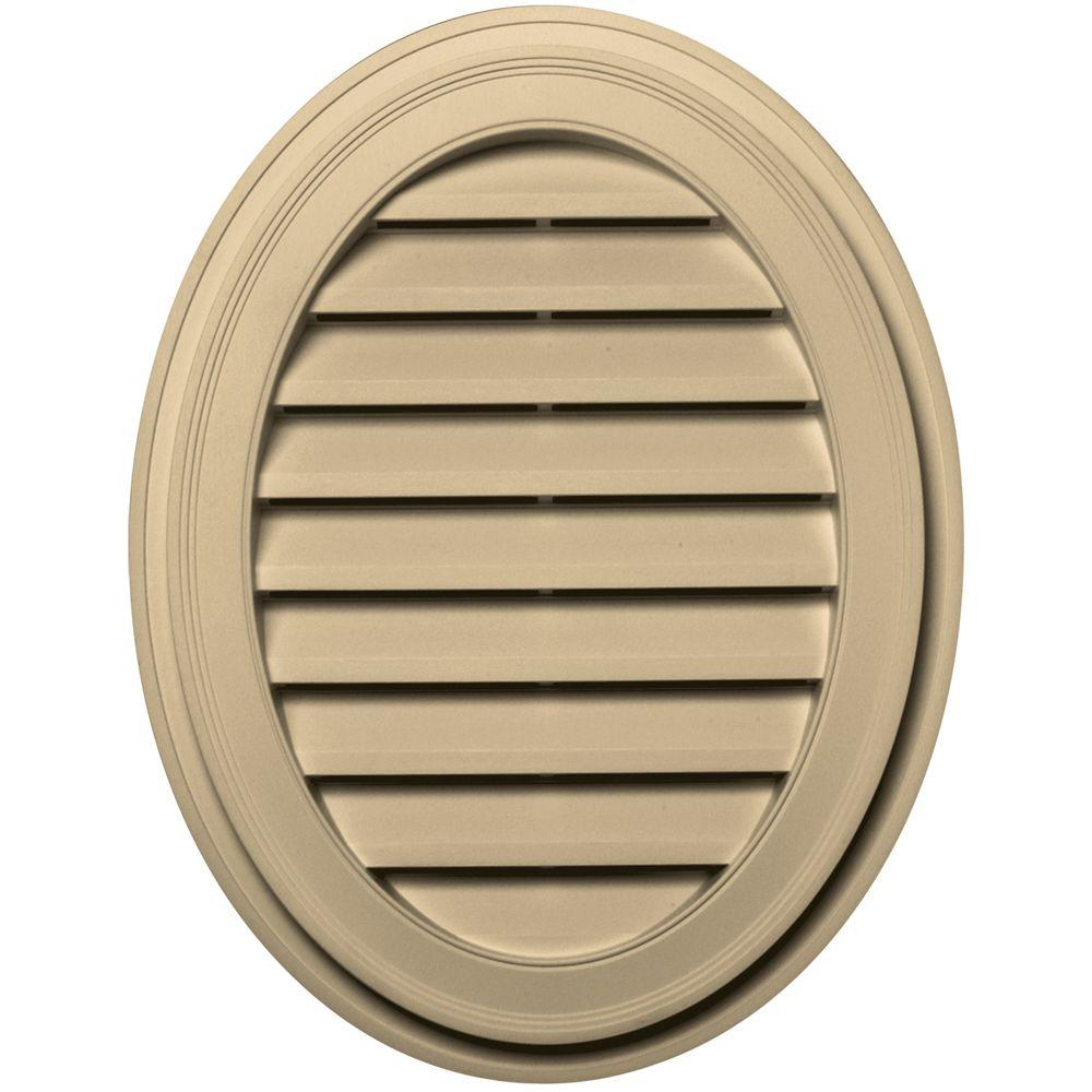 27 in. Oval Gable Vent in Dark Almond