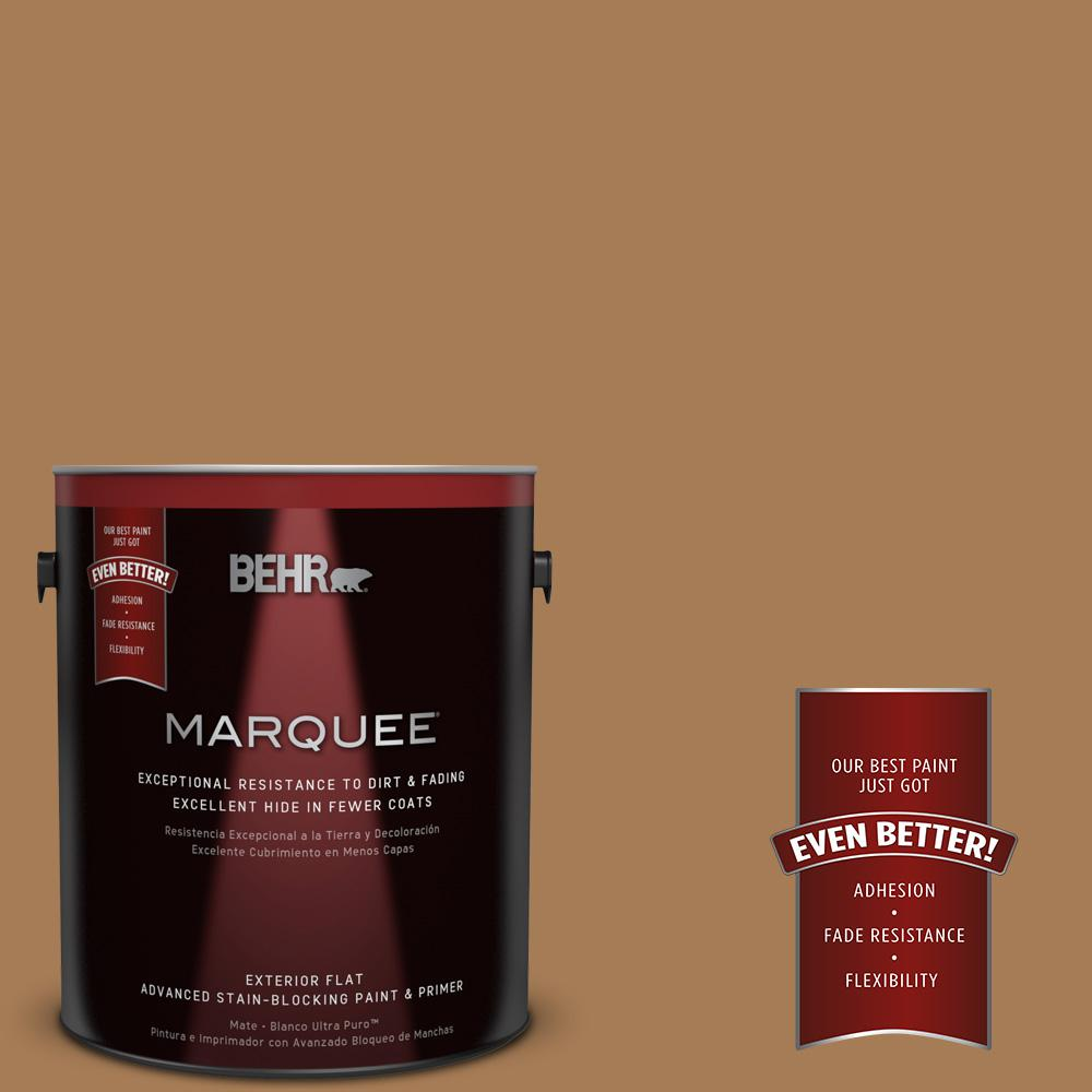 BEHR MARQUEE 1-gal. #S270-7 Antique Penny Flat Exterior Paint-445301 - The