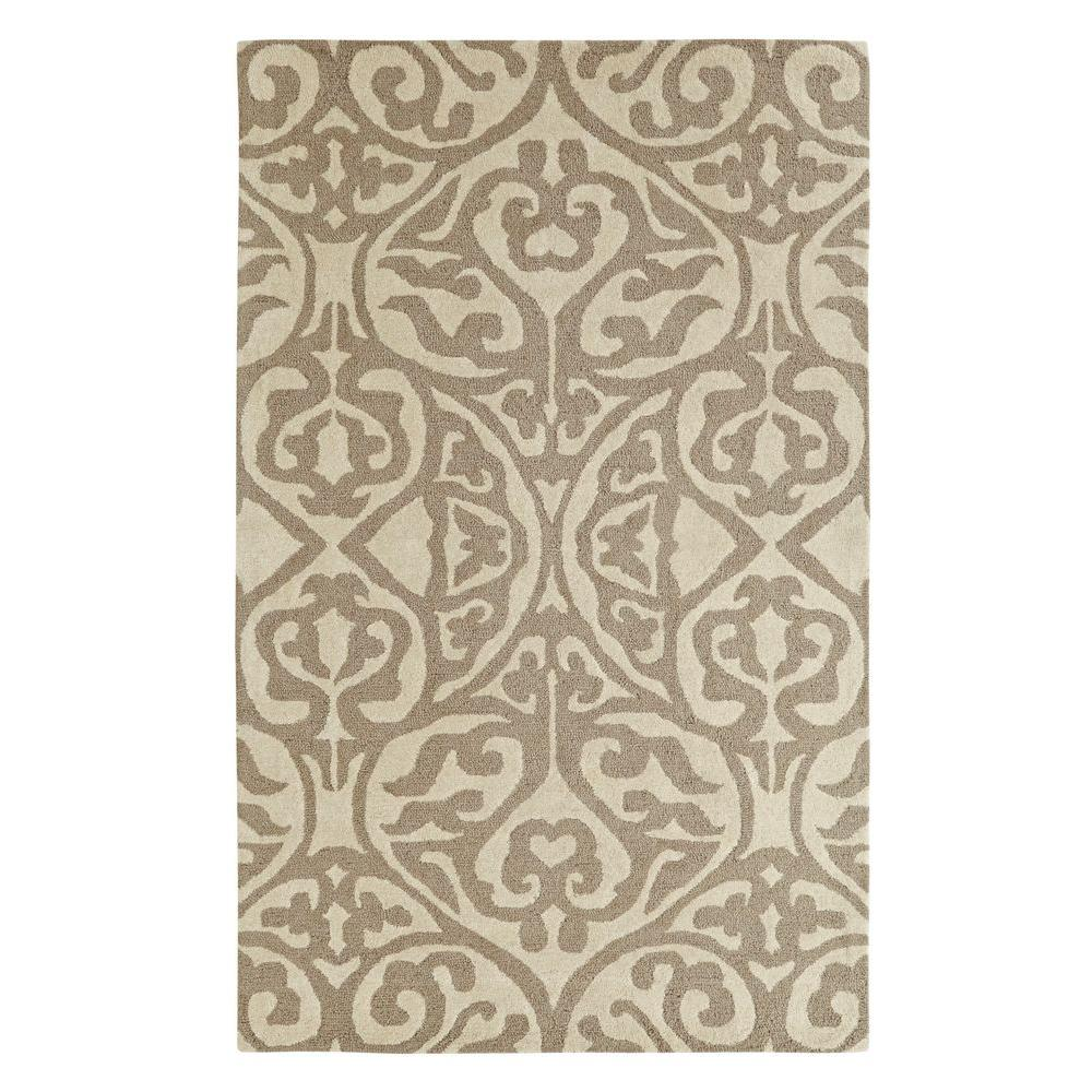 Palace Silver/Ivory 4 ft. x 6 ft. Indoor Area Rug