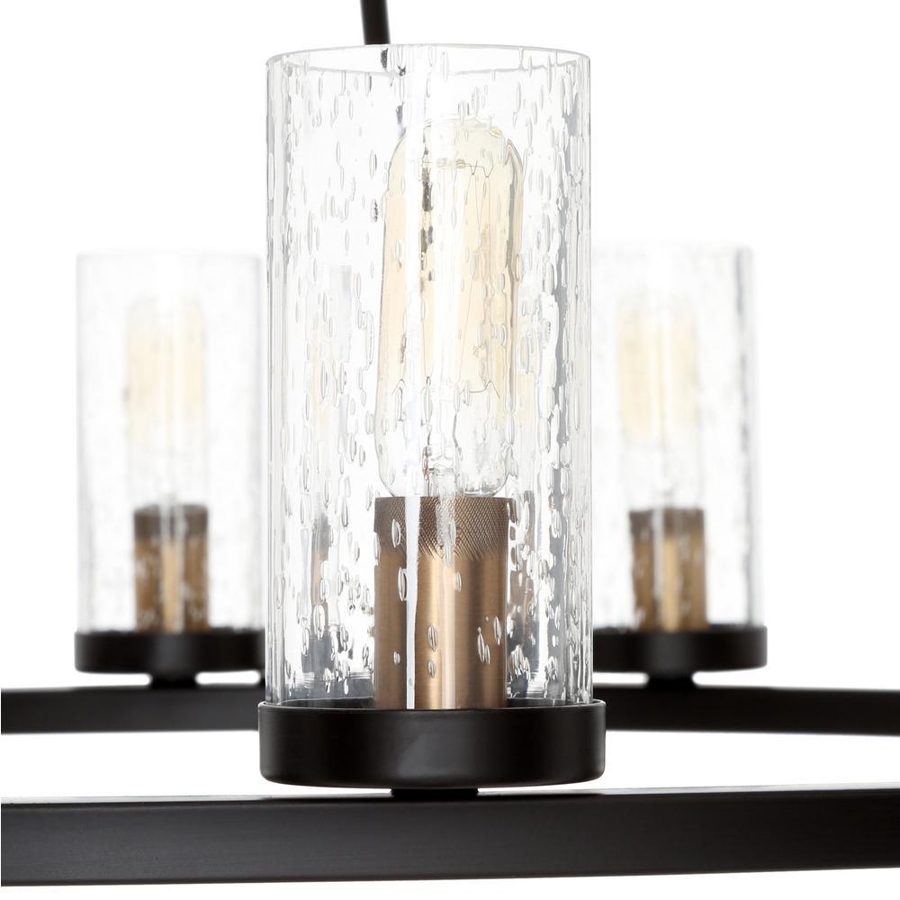 Ediston-style bulbs look chic inside seeded glass shades