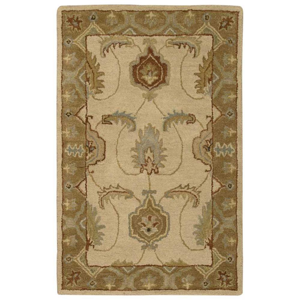 India House Ivory/Gold 2 ft. 6 in. x 4 ft. Accent