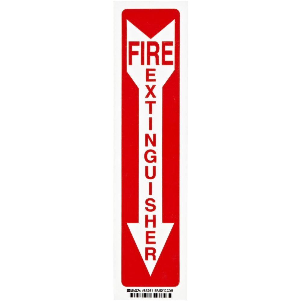 14 in. x 3-1/2 in. Polyester Fire Extinguisher with Arrow Sign