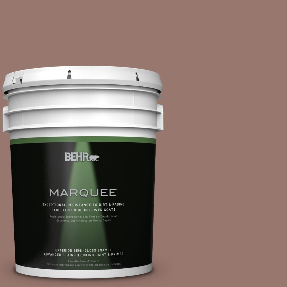 BEHR MARQUEE 5-gal. #N160-5 Chocolate Delight Semi-Gloss Enamel Exterior Paint