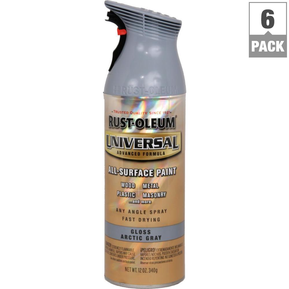 12 oz. All Surface Gloss Arctic Gray Spray Paint and Primer