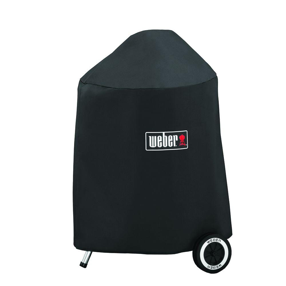 weber grill cover with storage bag for 18 in charcoal. Black Bedroom Furniture Sets. Home Design Ideas