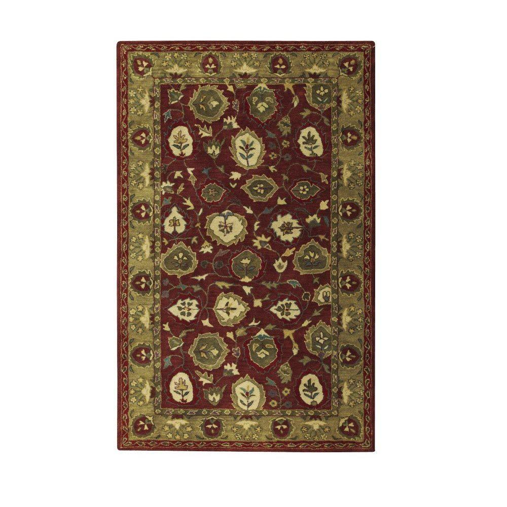 Vernon Red/Sage (Red/Green) 8 ft. 3 in. x 11 ft. Area Rug