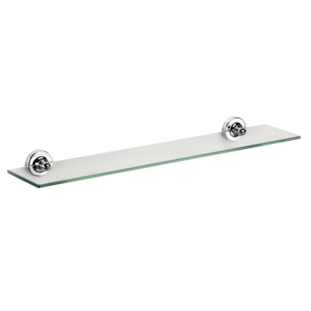 Croydex Worcester Glass Shelf in Chrome-QM461441YW - The Home Depot