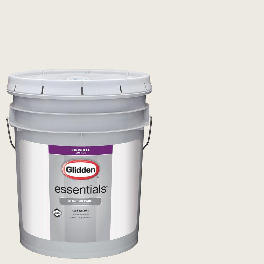 5 gal. #HDGCN03U Wedding White Eggshell Interior Paint