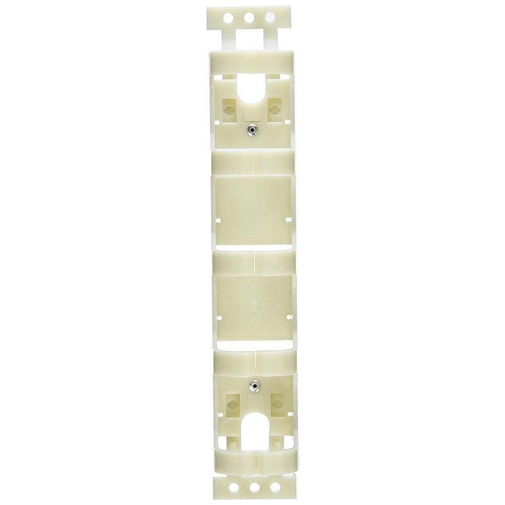 AW Label Bracket 110 Horizontal Wire Manager with Legs in Ivory