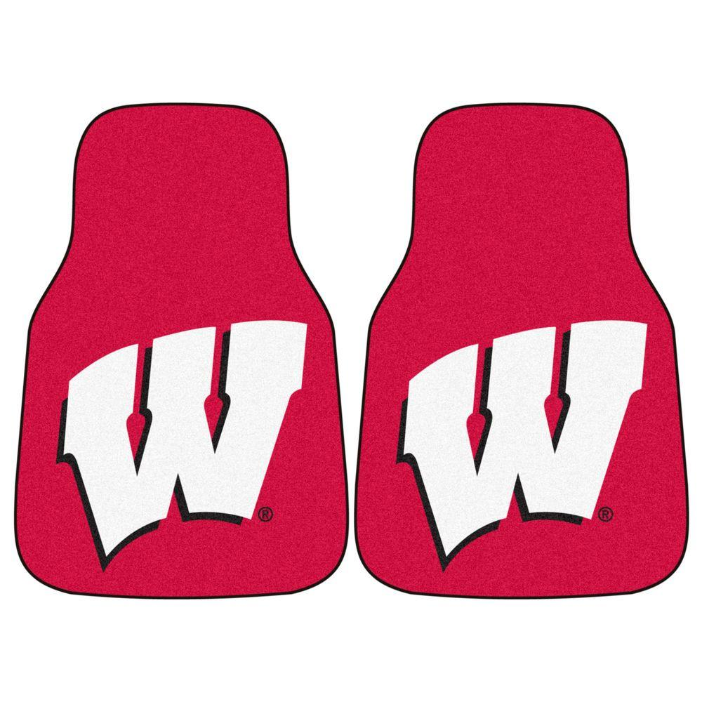 FANMATS University of Wisconsin 18 in. x 27 in. 2-Piece Carpeted