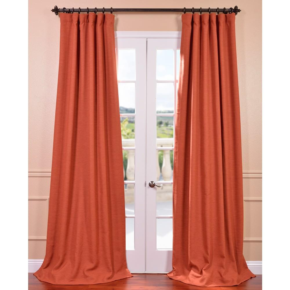 Persimmon Bellino Blackout Curtain - 50 in. W x 84 in.