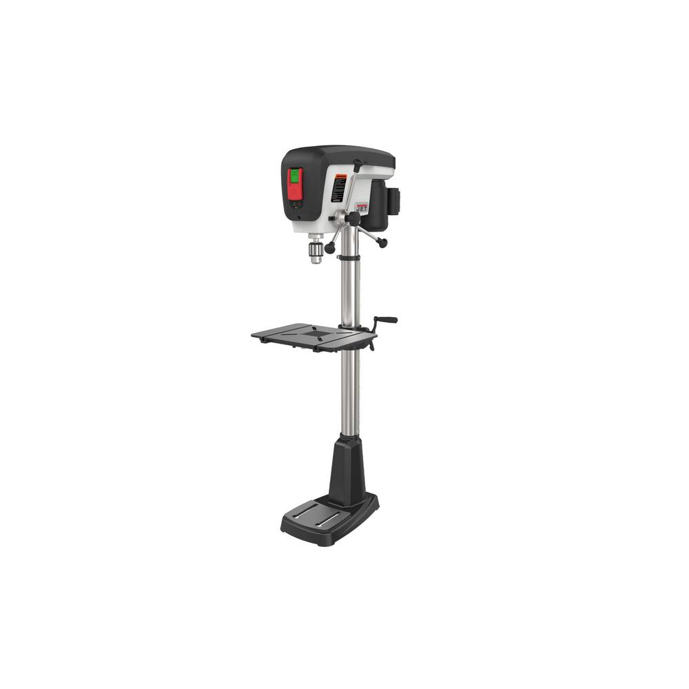 jet 3/4 hp 15 in. floor standing drill press with led worklight