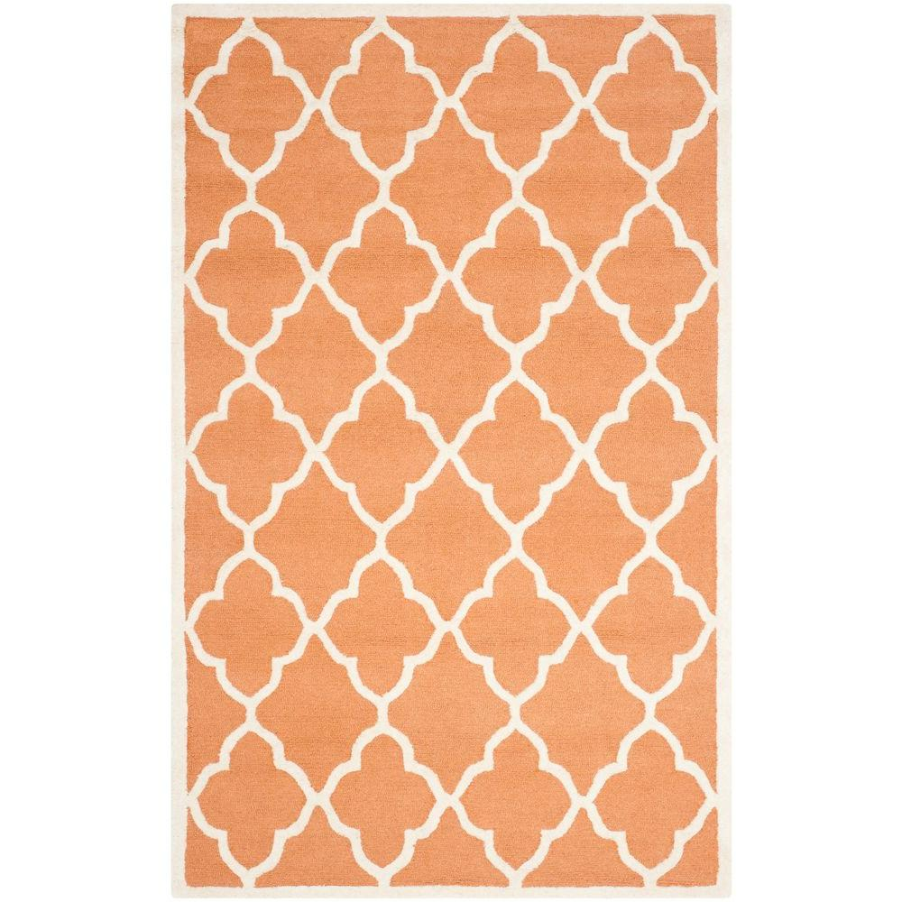 Cambridge Coral/Ivory 4 ft. x 6 ft. Area Rug