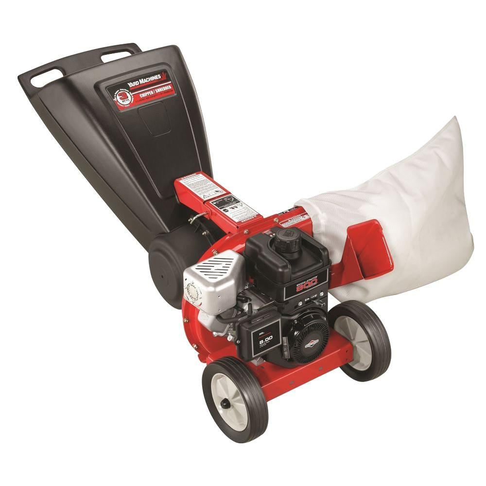 Yard Machines 2 in. 205 cc Briggs & Stratton Gas 3-in-1 Tip Down Chipper Shredder