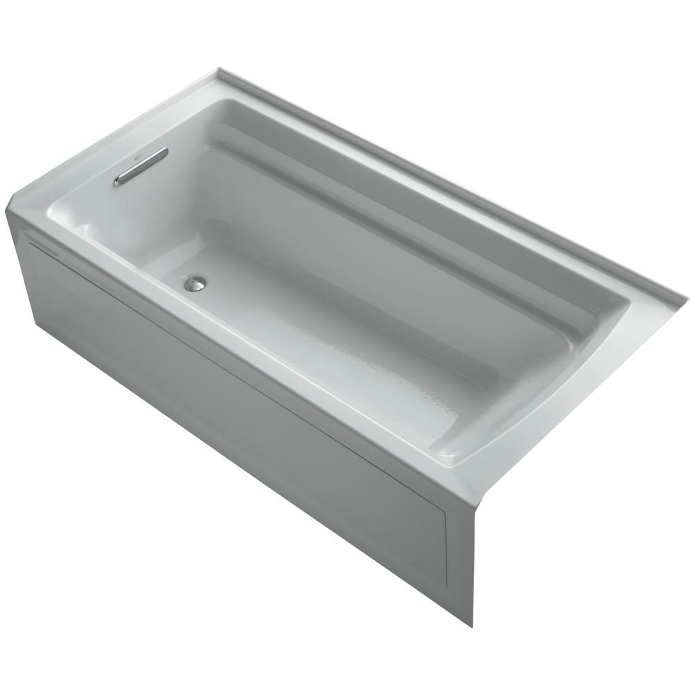 Archer 6 ft. Left Drain Soaking Tub in Ice Grey