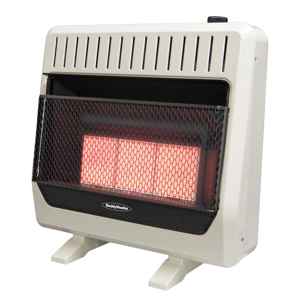 Reddy Heater 26,000 - 30,000 BTU Infrared Dual-Fuel Wall Heater with Blower