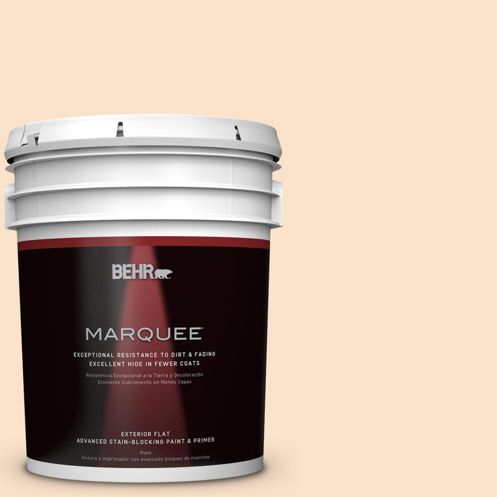 5-gal. #M250-1 Frosting Cream Flat Exterior Paint